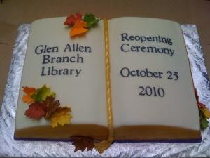 Glen Allen Reopening Cake