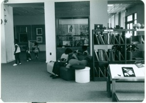 Notice LP records at right in this 1977 photo of the children's room