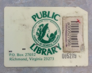 Early library card