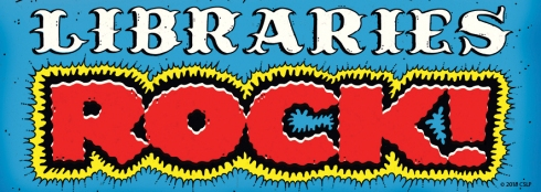 """Libraries Rock!"" banner."