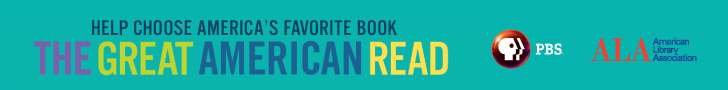 Help Choose America's Favorite Book The Great American Read, PBS logo, American Library Association logo